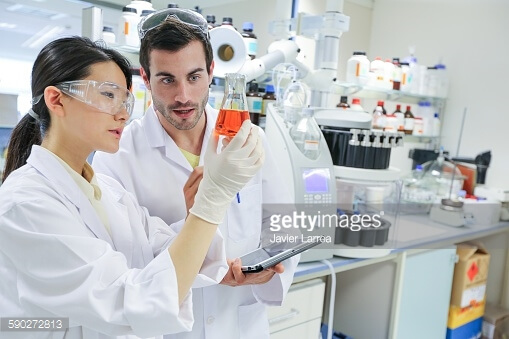 researchers microbiology lab chemical