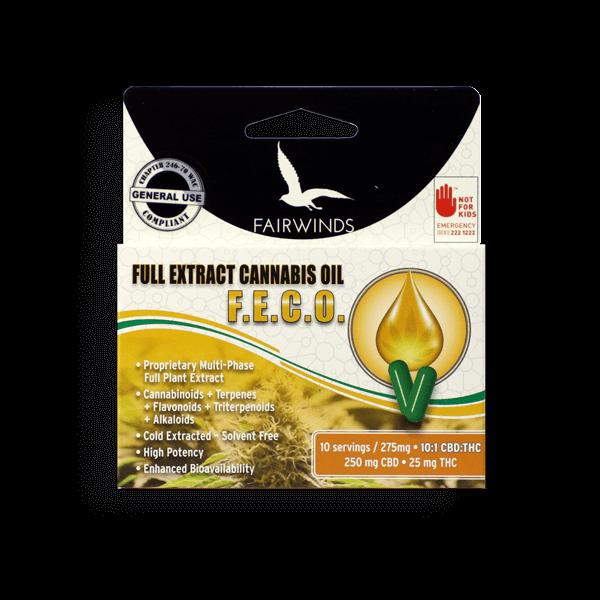 Full Extract Cannabis Oil (F E C O ) 10:1 Capsules